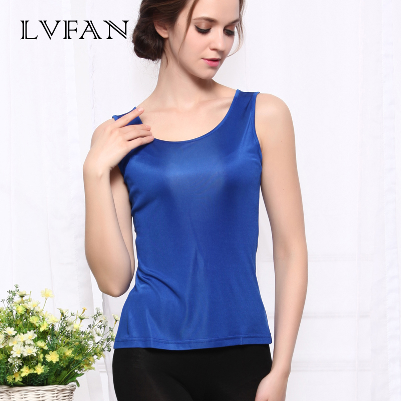 LVFAN 2019 Sexy Silk Knitted Tank Tops Gold Thread Top Vest Summer Camisole Women Off White Tank Top Fitness Femme T Shirt