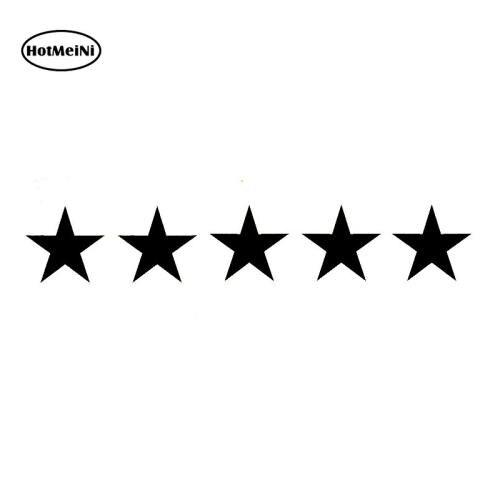 HotMeiNi Star Funny Fashion Car Sticker Vinyl Decal Car-styling For Window Bumper Laptop Sticker Black/Silver 17*2.9cm