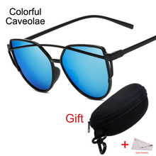 New 2017 Vintage Sunglasses For Women Fashion Cat Eye Sun Glasses For Girl Mirror Casual Men /Woman Brand Glasses