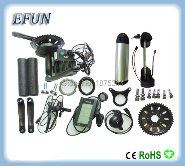 8Fun/Bafang BBSHD/BBS03 mid drive motor kits with 48V 14Ah new bottle/dolphin down tube battery for fat tire bike