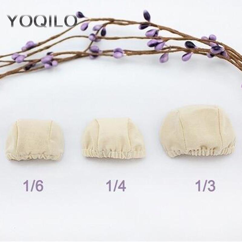 3PCS / LOT καυτή πώληση SD BJD αξεσουάρ DIY BJD μαλλιά Net Doll καπέλο περούκα 1/3 1/4 1/6