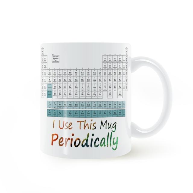 Periodic table i use this mug periodically mug coffee milk ceramic periodic table i use this mug periodically mug coffee milk ceramic cup creative diy gifts urtaz Images