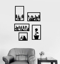 Vinyl wall decals office bookshelf interior decoration room library home living fashion decorative vinyl stickers DS18