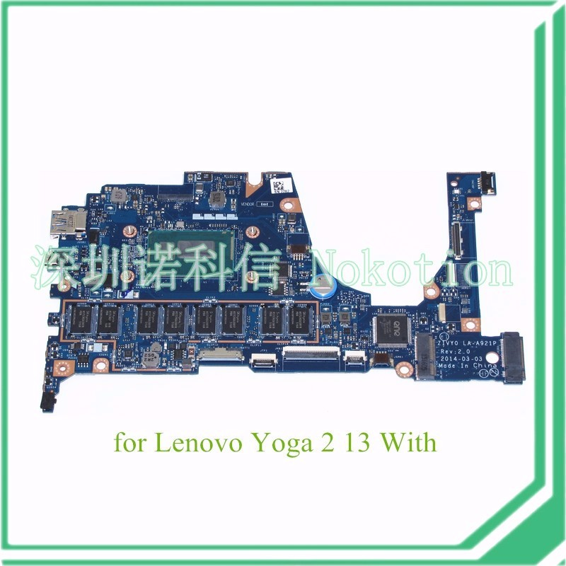 ZIVY0 LA-A921P REV 2.0 For Lenovo 13.3 Yoga 2 13 20344 SR1EF i5-4210U 1.6GHz Motherboard 4GB memory 13 rev 30 0 2
