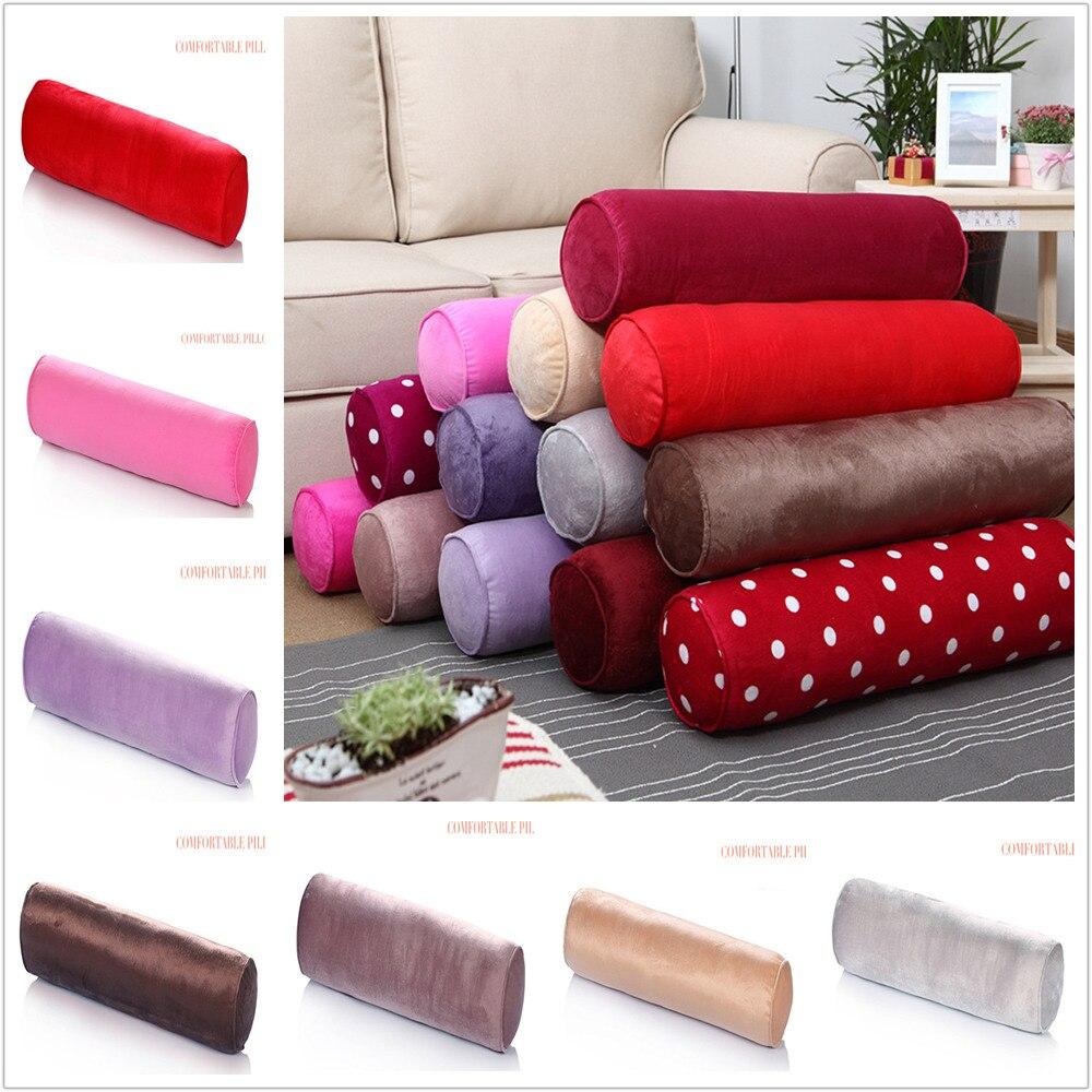 Cotton Throw Round Long Roll Tube Velvet Rectangular Pillows With Bolster ZJM9207