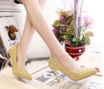 ba9b3f568446 Ladies dress pumps sexy stiletoos shoes for women office high heel sandals  pointed toe shallow mouth larger size 11 12 9 yellow -in Women s Pumps from  Shoes ...