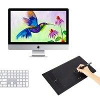 Цифровой рисунок Планшеты UGEE M708 графика Планшеты для живописи 10*6 дюймов с Беспроводной Перезаряжаемые ручка и перчатки бесплатная доставк...