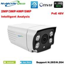 48V POE IP camera H.265 Intelligent analysis network camera 2MP/3MP/5MP IP cam CCTV security camera outdoor waterproof day/night