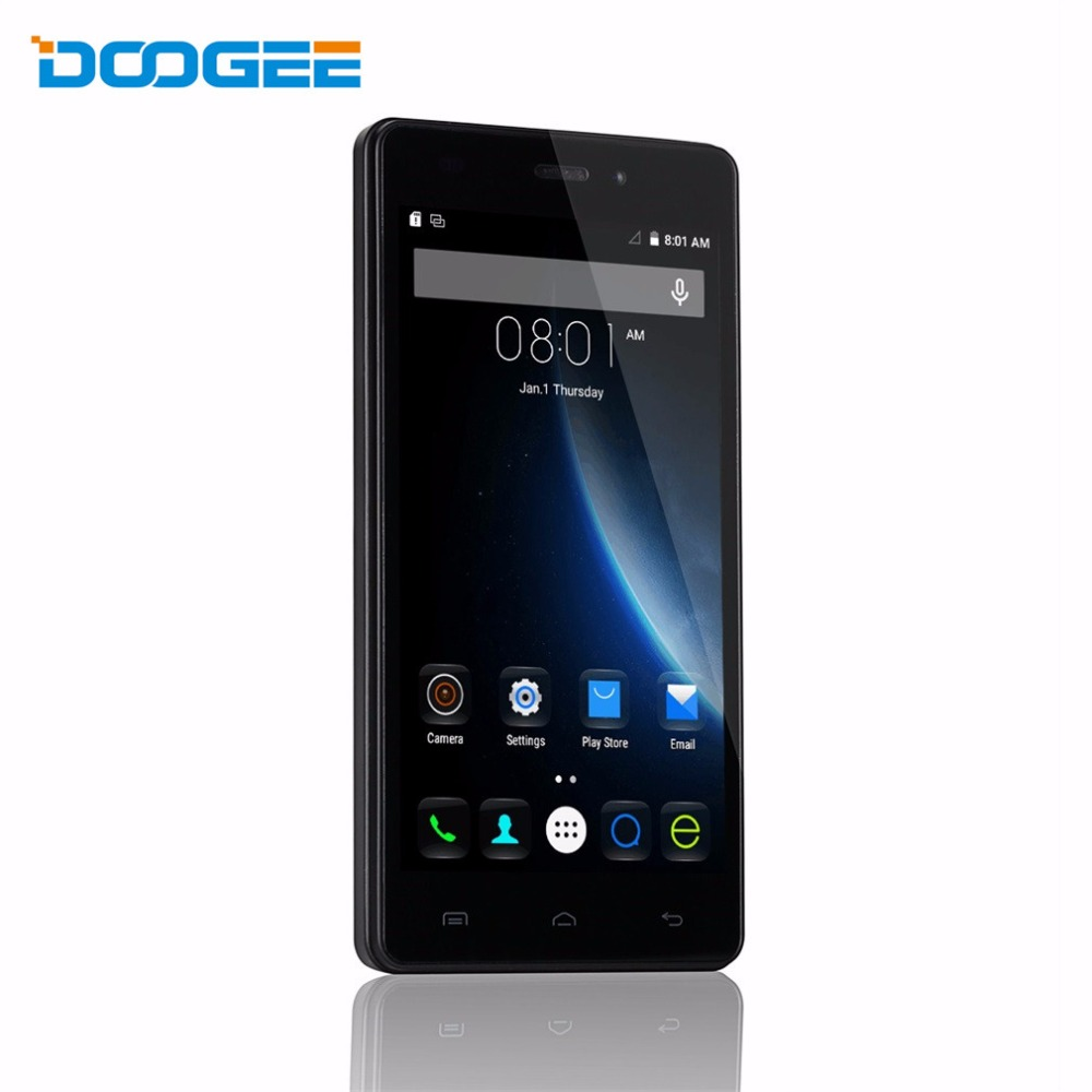 Original DOOGEE X5 Pro 5.0 inch Quad Core 4G LTE Smartphone Android 5.1 2GB RAM 16GB ROM MTK6735P 5MP 1280×720 Mobile Phone
