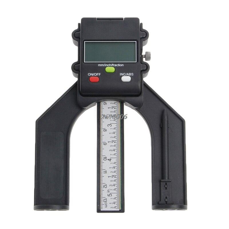 Battistrada digitale LCD Piedi Magnetici Aperture 80mm Mano Router Autoportante Tendenza Calibro di Profondità Digitale Router MAY22_35