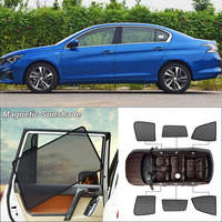 Car Side Windows Magnetic Sun Shade UV Protection Ray Blocking Mesh Visor For Peugeot 408 Curtain Accessories