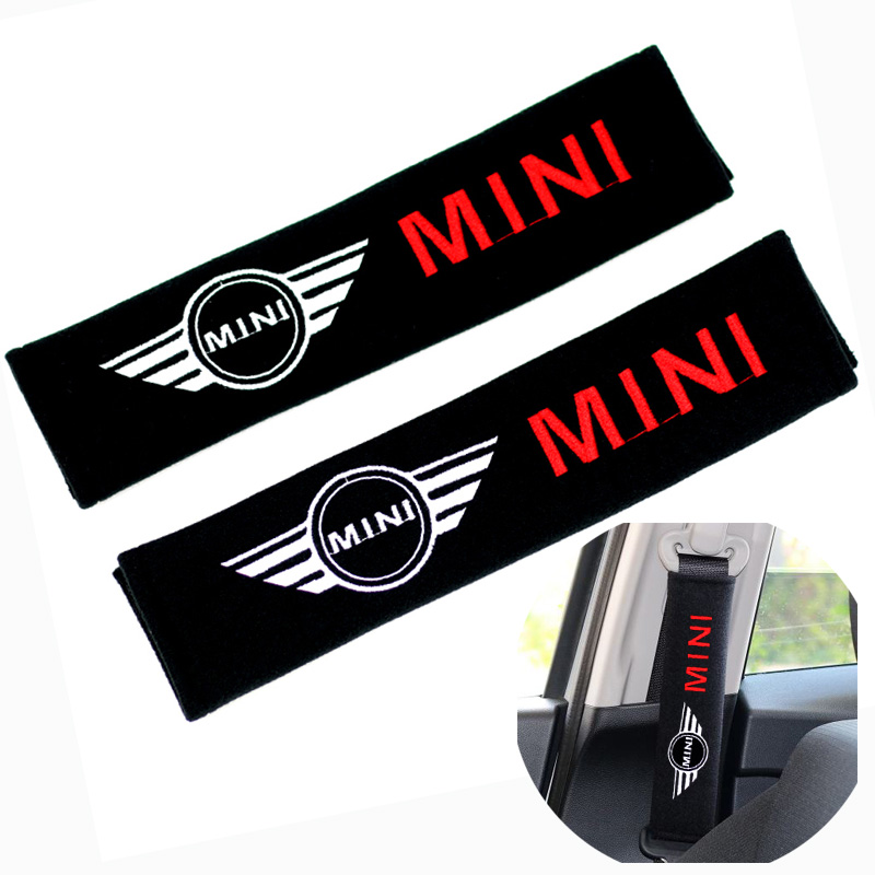 2pcsseat Belt Cover Car Shoulder Pad Sleeve Seat Safety Belt Cover For Mini Cooper S Countryman R Series