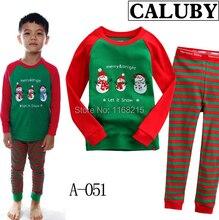 Wholesale – -2017 Christmas clothes set children stripe suit set boy pijamas long sleeve T-shirt+pants 2 pieces 6s/l