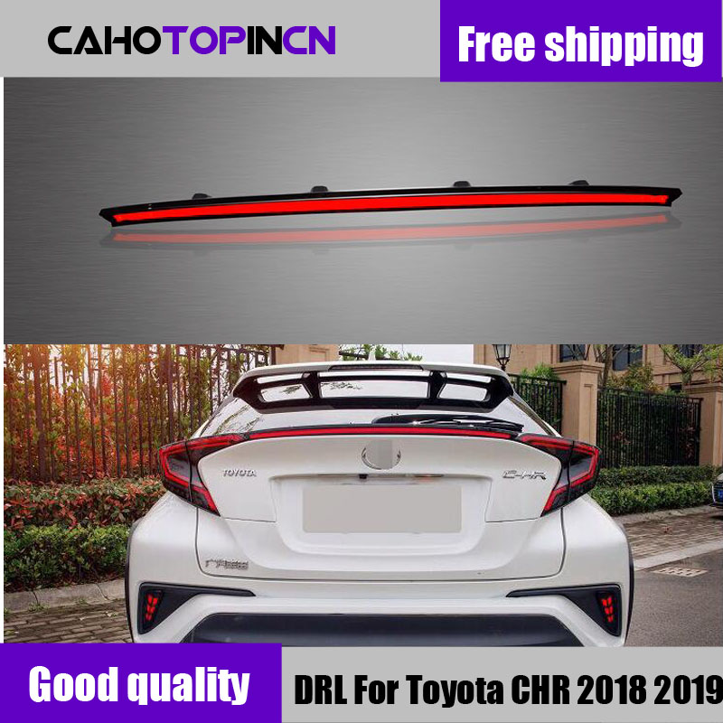 Rear Bumper trunk Tail Light For Toyota CHR 2017 2018 2019 LED Taillight Reflector Brake Lamp