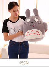 large 45cm naughty totoro plush toy gray totoro doll baby toy,birthday present Xmas gift c912