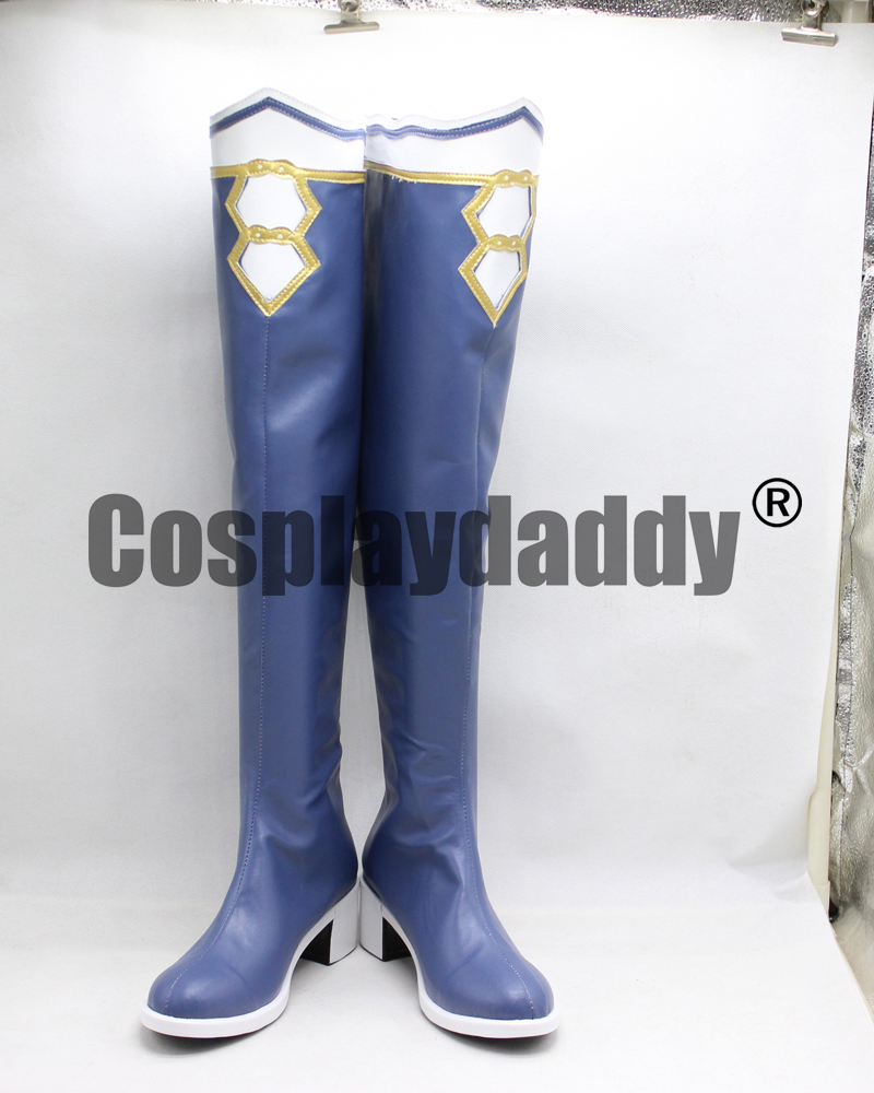 Hyperdimension Neptunia Noire Long Girls Cosplay Shoes Boots X002