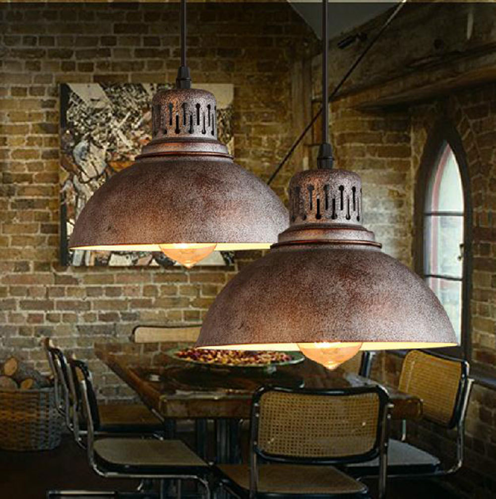 Wohnzimmer Modern Country Ac100 240v D23cm Rustic Metal Lampshade E27 Pendant Light