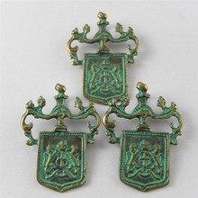 Julie Wang 10 шт. античные зеленые Бронзовые Подвески имитация жетона подвески ювелирные изделия браслет ожерелье аксессуары