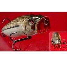 מכירה לוהטת!! למעלה איכות מותג מלאכותי דיג פיתוי Crankbait פופר BKK טרבל וו ים בס פתיונות 82mm 16.5g