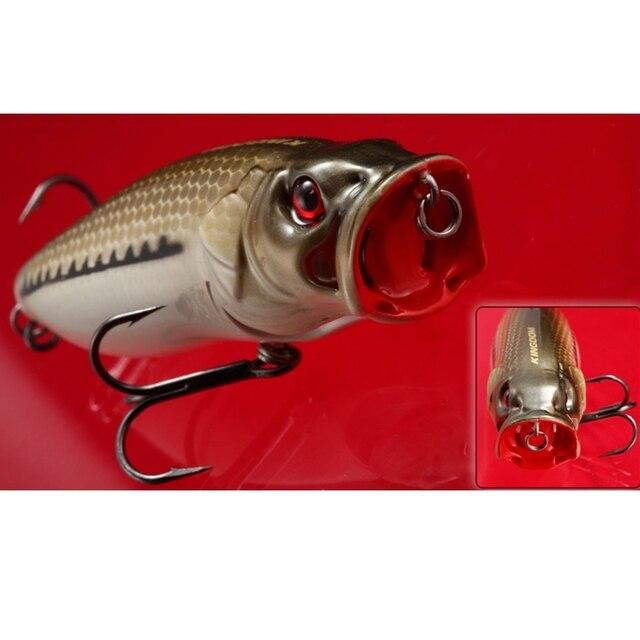 Heißer verkauf!! Top Qualität Marke Künstliche Angeln Locken Crankbait Popper BKK Höhen Haken Meer bass Lockt 82mm 16,5g