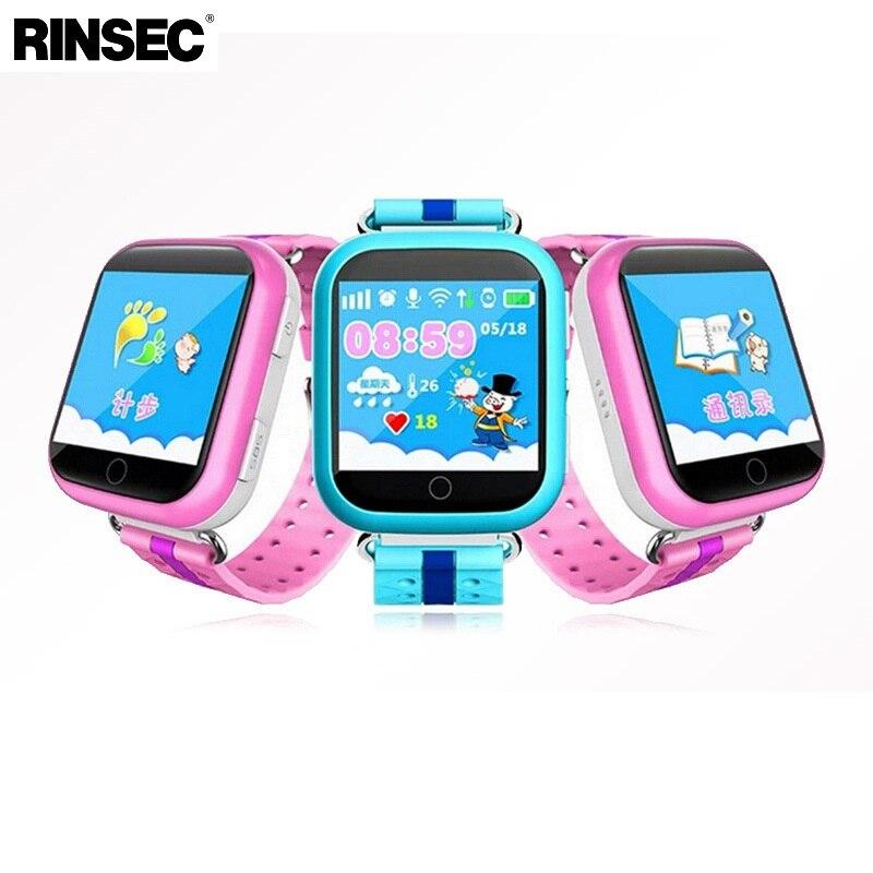 Rinsec Q750 GPS Tracker Enfant Montre Smart Watch avec WIFI Écran Tactile SOS Appel Dispositif de Localisation Tracker pour Enfant en Toute Sécurité