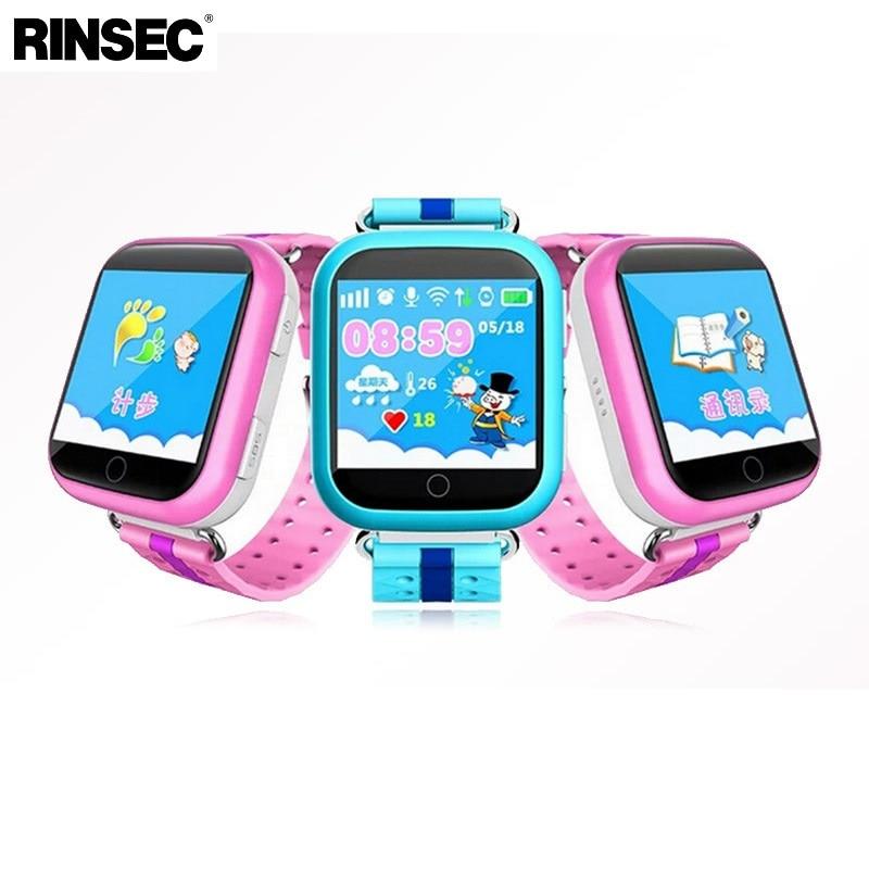 Rinsec Q750 GPS трекер малыш Смарт часы с WI-FI Сенсорный экран SOS вызова расположение устройства трекер для ребенка безопасный