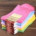 3 par/pack Calcetines Del Color Del Caramelo del Color Sólido del Algodón En Calcetines Otoño Caliente Señora Y Niña Delgada Transpirable Calcetines Fábrica puntos de venta