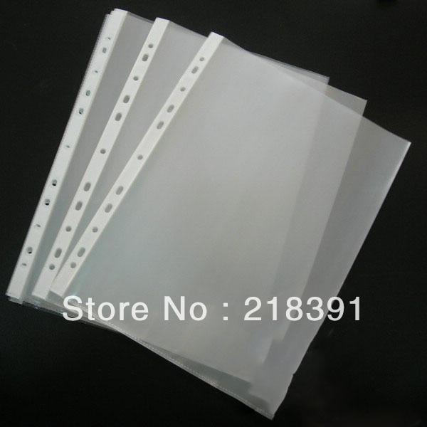 100pcs Lot 11 Hole A4 Size Clear Sheet Document Folder