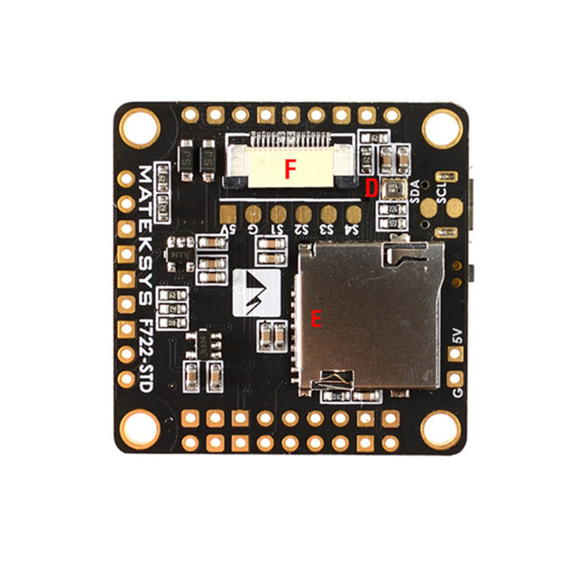 Matek Systems F722-STD STM32F722 Flight Controller Built-in BetaFlight OSD BMP280 Barometer Blackbox For Multirotor Parts Accs fpv s2 osd barometer version osd board read naza data phantom 2 iosd osd barometer with 8m gps module