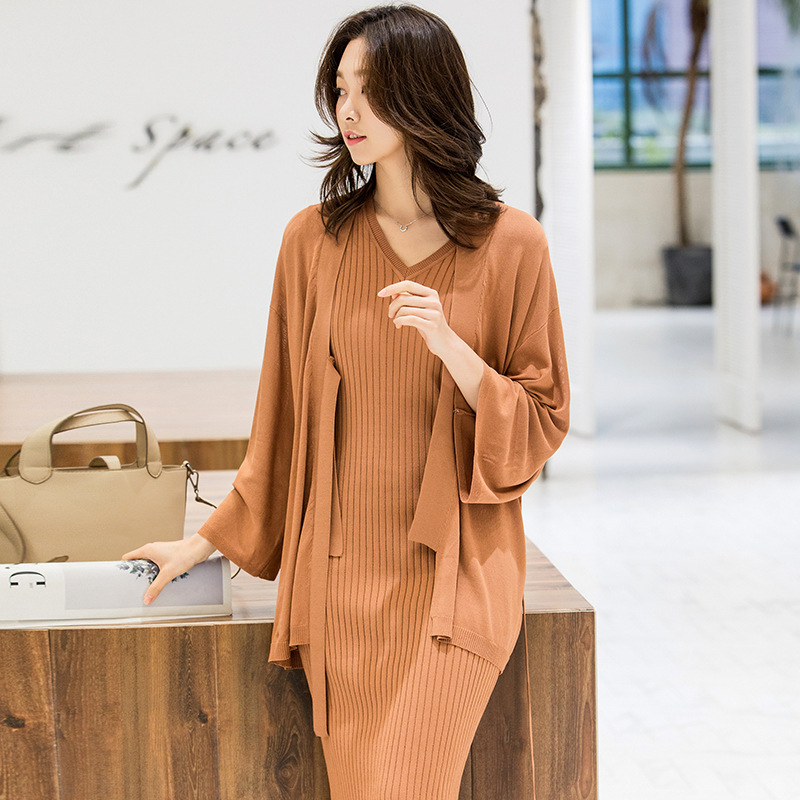 Knitted Cardigan Loose Long Sleeve Kimono Jacket 2019 New Women Sweater Female Cardigans Coats Outerwear Air Conditioning Shirts