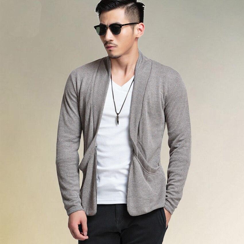 2015 New Fashion Hot Mens Cardigan Long Sleeve Knitting Cotton ...