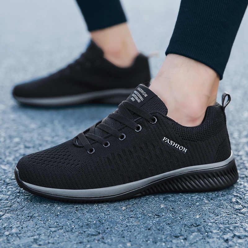 Дышащая удобная повседневная обувь для мужчин; модная мужская обувь на шнуровке; высококачественные износостойкие мужские кроссовки; размер 38-45