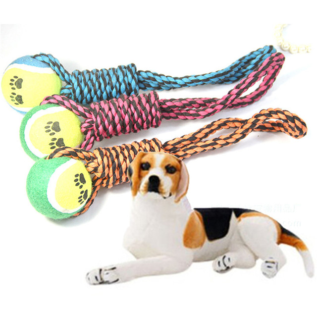 Cotton Rope Toys Pet Dog Bite Handheld Pulling Ball Molar Tooth Cleaning Toy Randomly