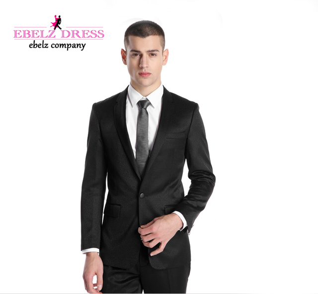 2015 free shipping cheap men suits Black groom suits Hote sale ...