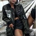 2016 Плюс Размер XS-3XL Женщины Bobmer Куртка Вышивка Письмо Негабаритных Женщины Ветровка Куртка Пальто Толстые Пары Мужчины Пальто Куртки