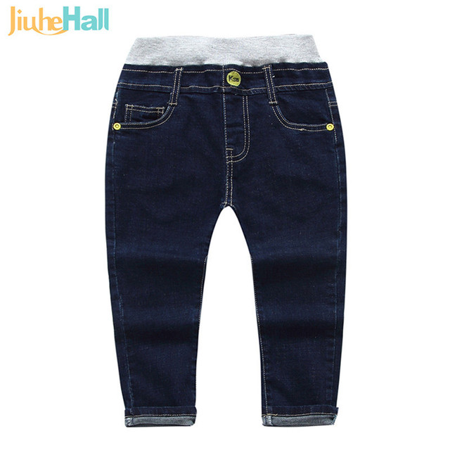 Jiuhehall 2-5 Ages Spring Autumn Boy Girls Jeans Embroidered Full Length Denim Pants For Kids Fashion Wild Babys Trousers CMB761