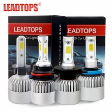 S2 H11 LED Headlight Bulbs H7 H4 H1 H3 H11/H8/H9 9005 9006 COB Auto Headlamp Conversion Kit Automobile 72W 8000LM FC(China)