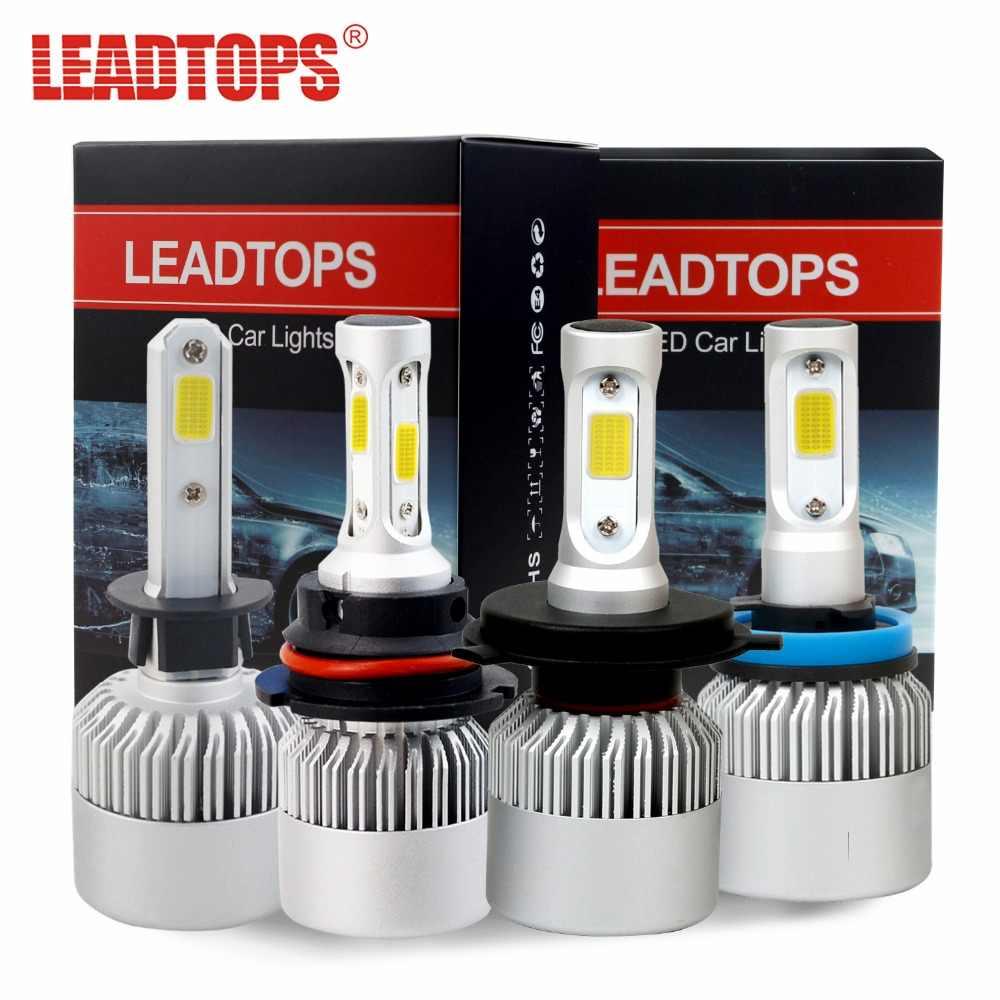 S2 H11 LED Headlight Bulbs H7 H4 H1 H3 H11/H8/H9 9005 9006 COB Auto Headlamp Conversion Kit Automobile 72W 8000LM FC