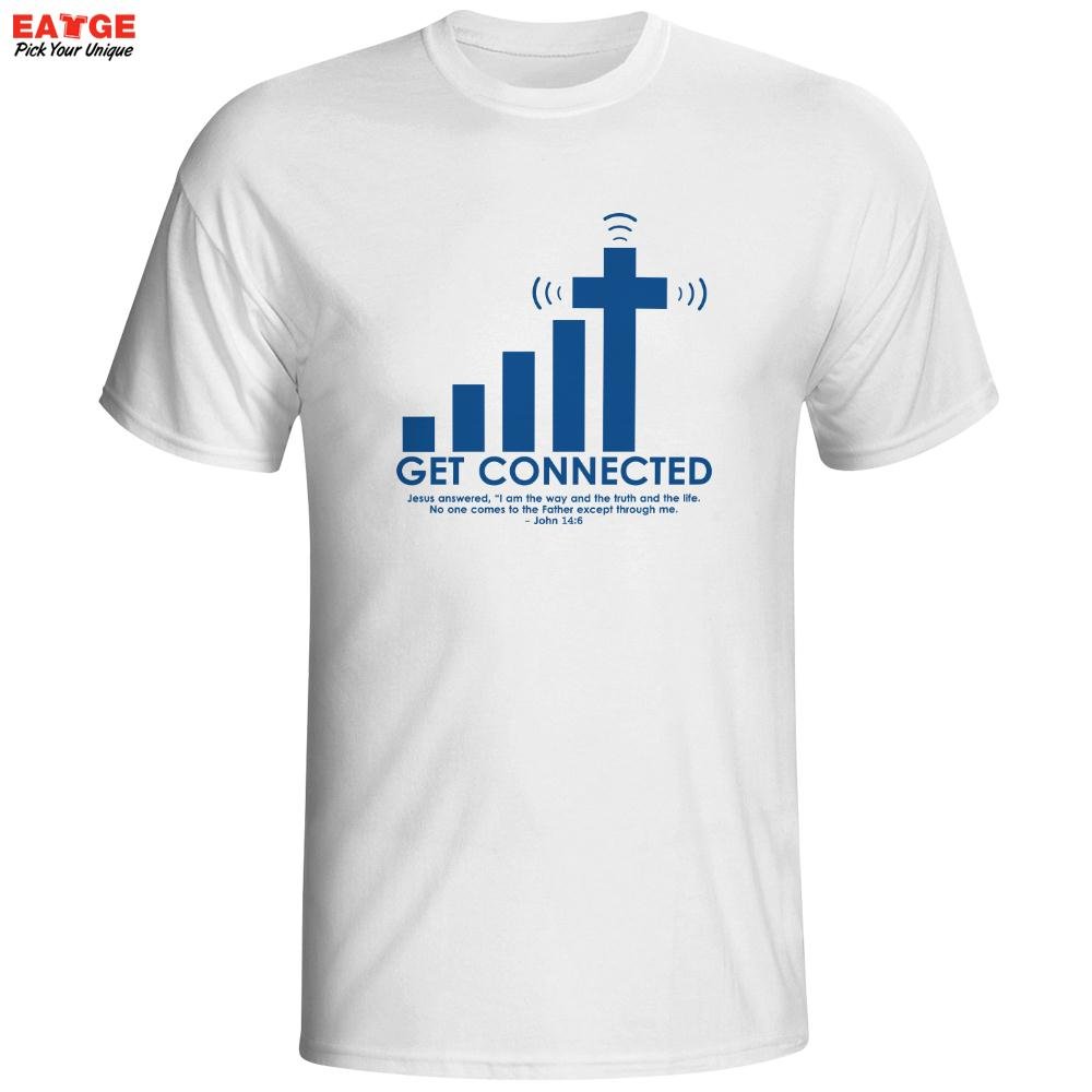 Tshirt design - Get Connected To Jesus T Shirt Design Fashion Creative Pattern T Shirt Cool Casual Novelty