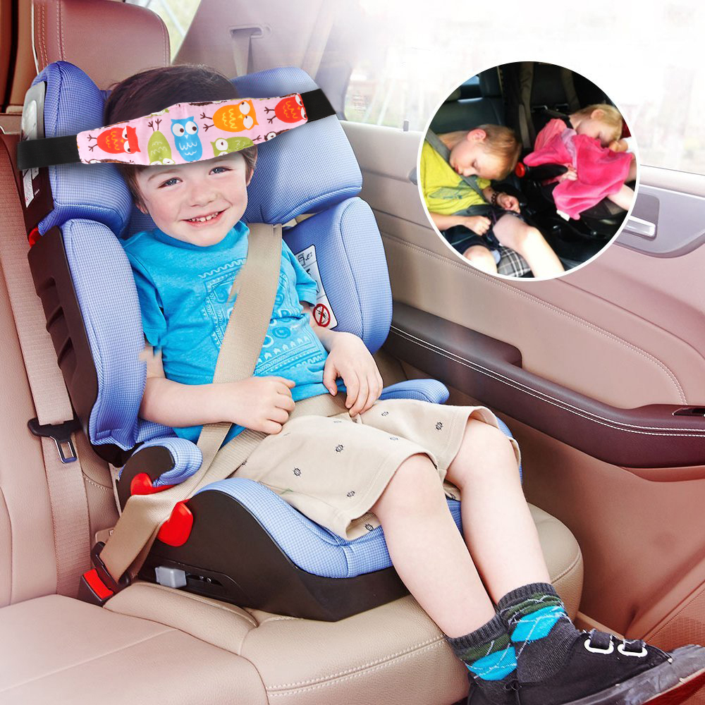 Practical Safety Baby Kids Stroller Car Seat Sleep Nap Aid Head Fasten Support Holder Belt Head Support Holder Sleep Belt Owl image
