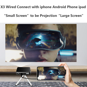 Image 3 - Smartldea DLP Mini X3 Projector build Battery 200lumens HDMI USB Pocket Smart Proyector Mobile beamer Phone wired mirror display
