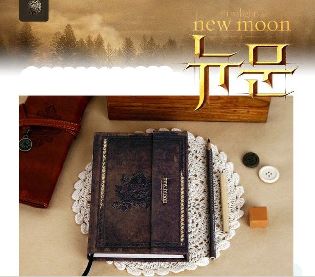 Free Shipping HOT NEW Arrive/The Twilight Saga new moon/ hard cover notebook/ Memorial notebook/ Diary/ Fshion Gift/ wholesale