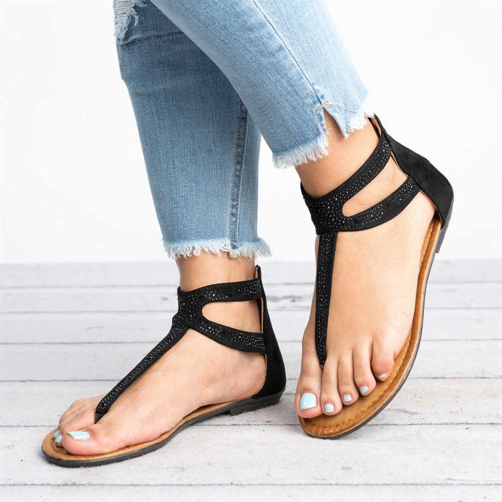 UK Women Ladies Ankle Strap Sandals Summer Beach Open Toe Casual Flat Shoes Size
