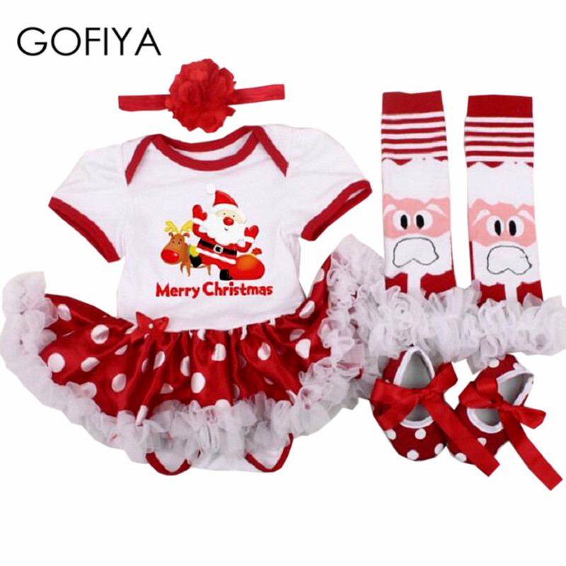 Newborn Baby Girl Clothes bebe bodysuit Christmas Rompers Dress 2018 Xmas clothes Baby Costume Tutu Dress Festival Party Dresses infant girl clothes party costume newborn baby romper dress minnie mickey tutu dress baby girl climbing bebe 1st birthday gift