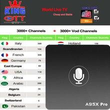 A95X Pro Голосовое управление IP tv Android 7,1 tv Box с 1 год Испания Великобритания Германия Швеция Португалия французский, Африканский EX-YU xxx США турецкий