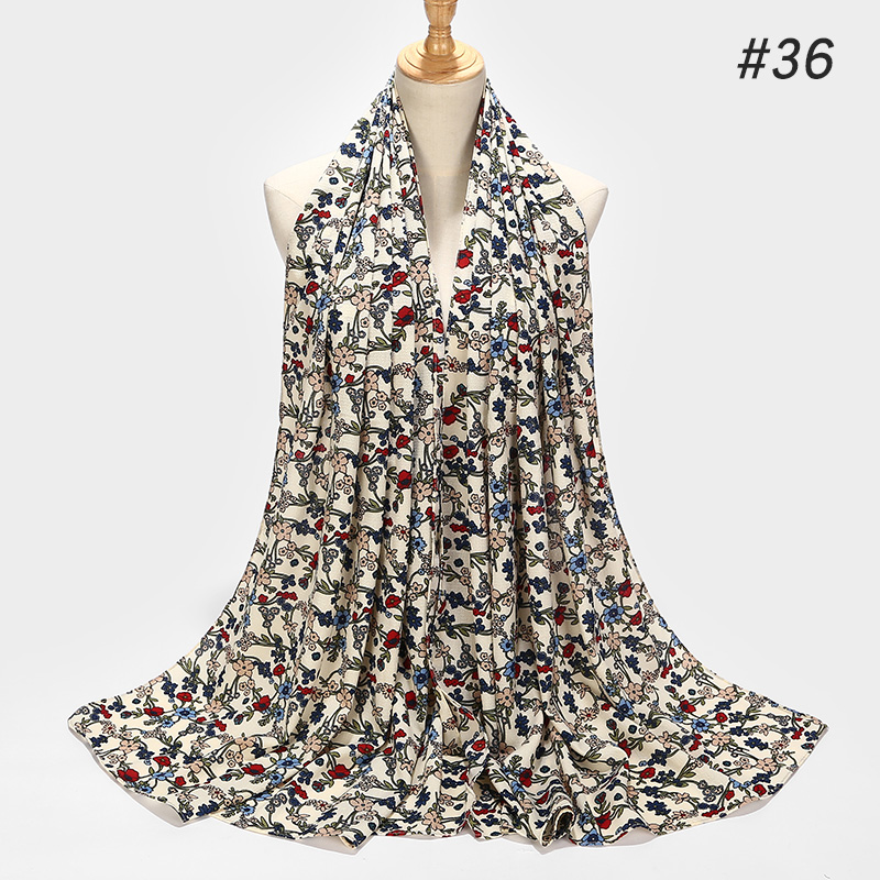 Image 5 - Printing Bubble Chiffon Hijab Scarf Design Flower Shawls Muslim  Scarves Headscarf Wraps Turbans Long Scarves 43 COLORSWomens Scarves