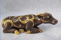 song voge gem S0577 Royal Palace Pure Bronze 24K Gold Gild Feng Shui phoenix design animal Cattle