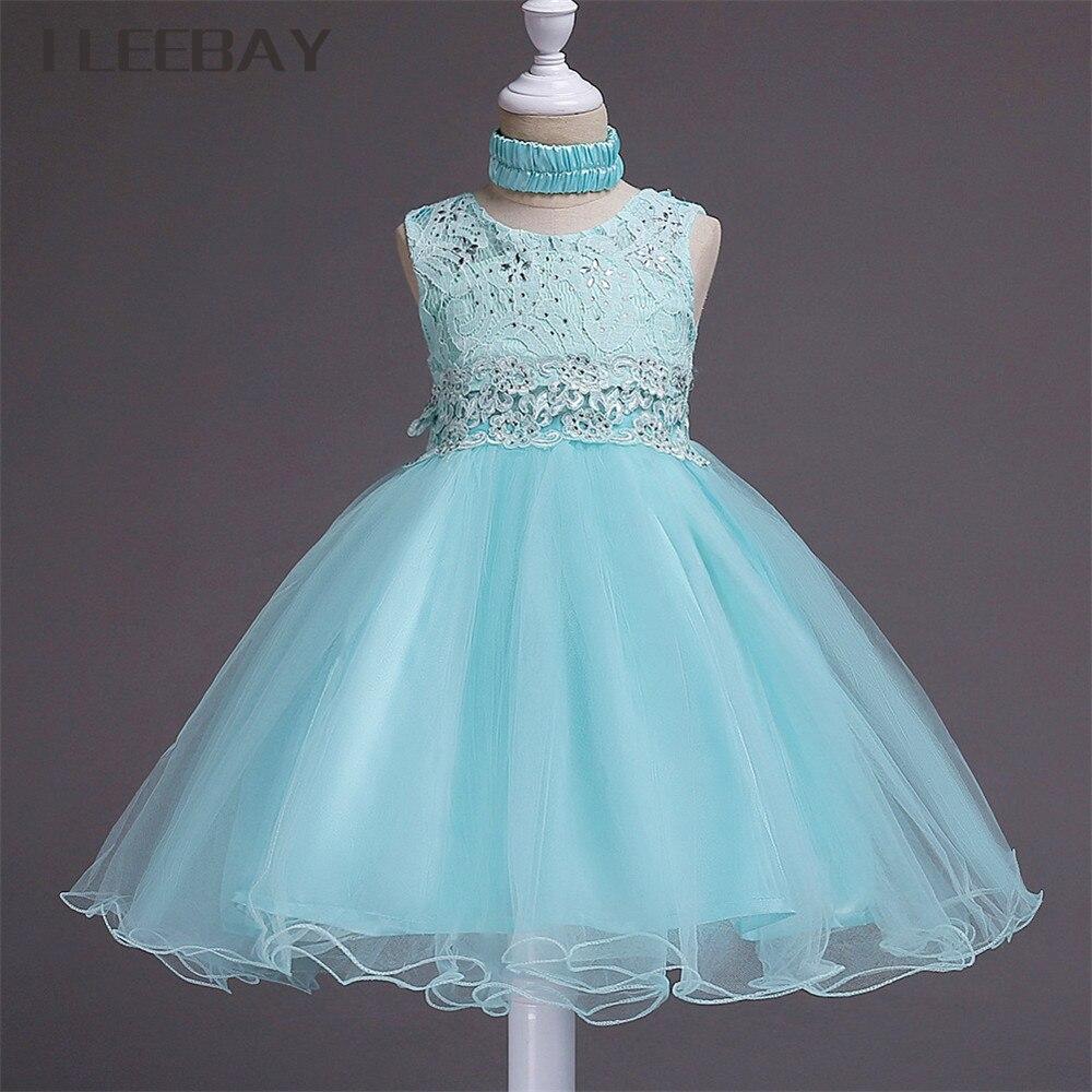 Online Shop Luxury Baby Girls Formal Dress Brand Floral Kids Lace ...