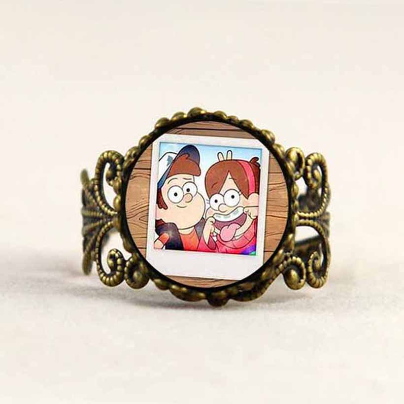 Systematic Steampunk Drama Gravity Falls Mysteries Bill Cipher Wheel Photo Twins Dipper Mabel 1pcs/lot Mens Fashion Jewelry Womens Vintage Products Hot Sale Jewelry & Accessories
