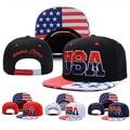Moda da bandeira dos eua bandeira americana snapback do boné de beisebol de algodão eua Gorras Visor Ajustável Esporte Hip Hop Legal Boné de Beisebol Osso Hot